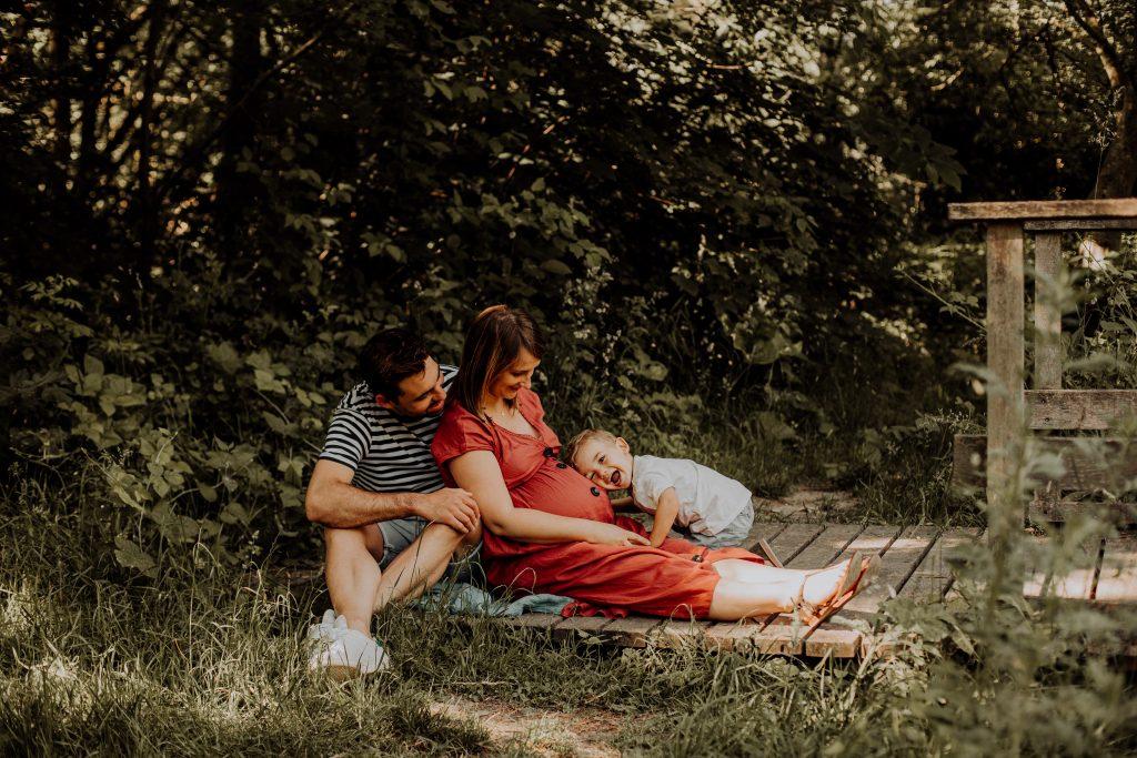séance grossesse extérieur avec enfant